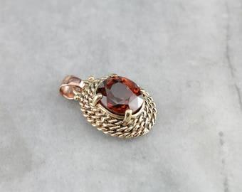 Vintage Orange Zircon Pendant, Zircon Gemstone Pendant, Zircon Pendant Y2MH5T-R
