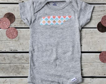 Tennessee Baby Onesie® - Tennessee Baby Gift -  TN Baby Clothes - State Baby Onesie