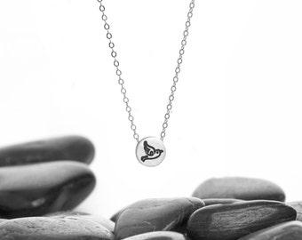 Bird Necklace, Bird Jewelry, Silver Bird Necklace, Flying Bird Necklace, Swallow Necklace, Sterling Silver, Small Bird Necklace,  n245S