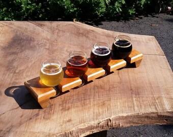 Cherry beer flight sampler w/ glasses