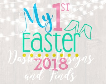 DIGITAL DOWNLOAD easter svg, png file, peeps svg, silhouette, cricut, cut file, easter shirt, easter eggs, my first easter