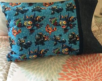 Monster Pillowcase   Skylander Pillowcase   Toddler Monster Pillowcase    Monster Travel Pillowcase   Kids Skylander