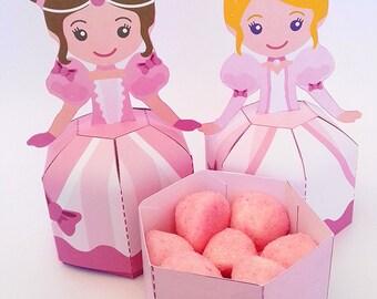 Printable princess favor box