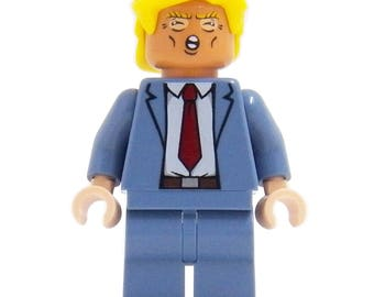 Donald Trump (Orange Edition) - miniBIGS Custom Figure made from Genuine LEGO Minifigure Elements