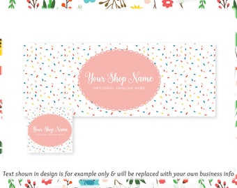 Sprinkles Facebook Cover & Profile Image - Limited Edition! Coordinating Logo Available! Perfect for Bakery, Dessert Shop, Blog + much more!
