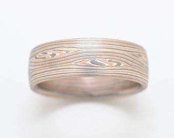 Mokume Flow Ring in Embers