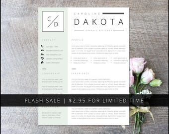 FLASH SALE | Resume Template Pack | Word + Pages Compatible | Cover Letter, Thank You, References, Unlimited Resume Pages | Instant Download