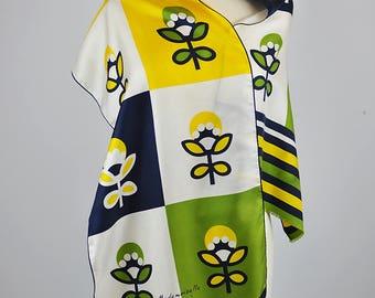 Vintage 1960's Mademoiselle Ricci Design Silk Scarf