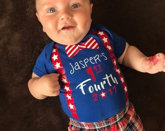 Patriotic Baby 1st fourth of July Onesie top