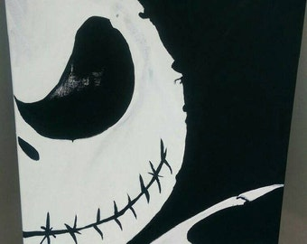 Nightmare Before Christmas Jack Skellington Original Painting JSO-100