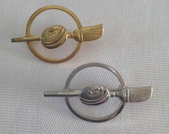 Sterling Silver Curling Brooch and Gold Wash Sterling Silver Curling Brooch by Bond Boyd