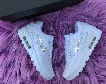 Swarovski White Nike Air Max 90 ID Shoes