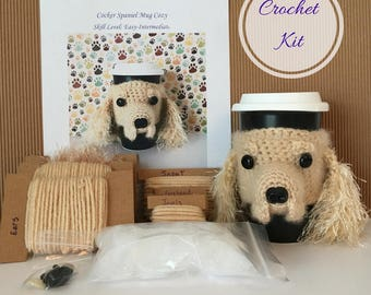 Crochet Kit, Crochet Spaniel, Crocheting Kit, Amigurumi Kit, Crochet Pattern Dog, Crochet Gifts, Crochet Dog Pattern. Gifts for Crocheters