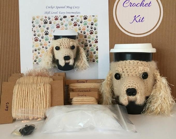 Featured listing image: Crochet Kit, Crochet Spaniel, Crocheting Kit, Amigurumi Kit, Crochet Pattern Dog, Crochet Gifts, Crochet Dog Pattern. Gifts for Crocheters