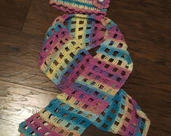 Stained Glass Hat & Scarf Set