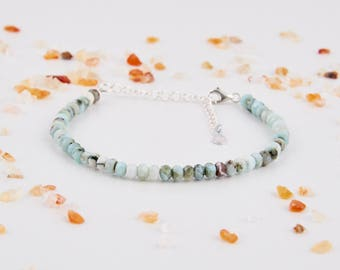 Raw Bracelet Womens Bracelet Gemstone Bracelet Larimar Jewelry Crystal Bracelet Delicate Bracelet Birthstone Bracelets Minimalist Bracelets
