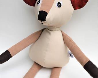 reindeer toy / deer doll / handmade plush / deer plush / children gift / baby boy gift / animal handmade / animal toy