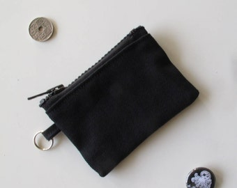 Purse keychain in black jeans/black COINPURSE