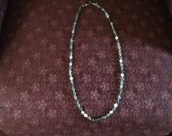 """african tourqoise, hand knotted necklace, 18"""" long"""