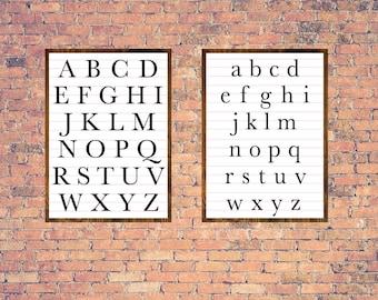 Teacher SVG, Teacher Sign, Alphabet SVG, Alphabet Cut File, Fixer Upper Print, Magnolia Farms, Cuttable, Wall Art, Print, Vector, Silhouette
