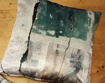 AbandonedTextues 'Broken Concrete' Cushion Cover, Luxury, Decorative, Independent.
