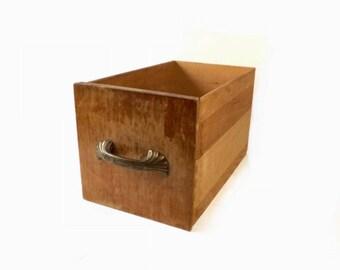 Vintage Wood Salvage Drawer, Primitive Storage Box