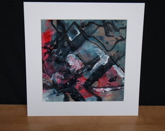 Original Abstract Art - Expressionist Acrylic Painting on Tyvek - Untitled 3