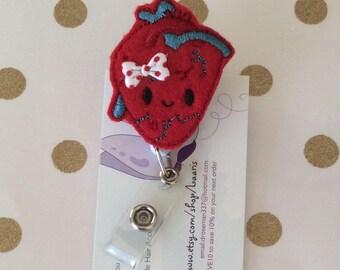Heart Retractable reel badge-cardiac nurse badge-cardiac nurse reel-ekg nurse badge- icu nurse reel- cardiac nurse gift -cardiac doctor reel