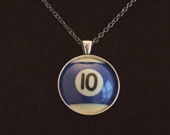 """Necklace - # 10 Pool Ball  (16""""-24"""")"""