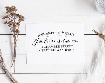Return Address Stamp Custom Address Stamp Personalized Address Stamp Self Inking Stamp Housewarming Gift Wedding Traditional