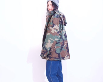 the most ULTIMATE vintage CAMO jacket women's one size fits most oversized style vintage army camo jacket