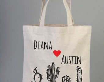 Cactus, Cacti, Cactus Tote, Cacti Tote, Bridal Party Favor, Wedding Gift, Mexico, Cotton Bag, Bachelorette, Wild Cactus Tote, Print Totes,