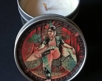 "soy wax massage candle box 100% natural "" INDI DANCER "" Cinnamon fragrance"