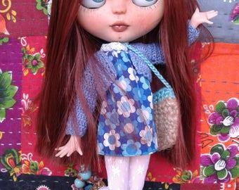 "Custom Blythe ""Daisy Blue"" by Andy"
