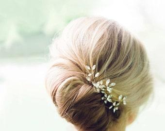 Everthine Crystal Hair Pins Gold, Wedding Hair Accessories, Hair Combs, Hair Accessories, Gold Hair Accessories, Bridal Comb, Hair Pins