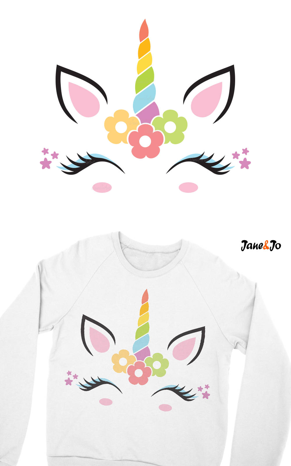 Unicorn svg unicorn face svg unicorn head svg unicorn clipart vector dxf jpg png silhouette cut - Clipart visage ...