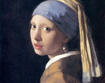 Girl with a Pearl Earring Cross Stitch Pattern vermeer pattern needlepoint - 331 x 393 stitches - INSTANT Download - B143