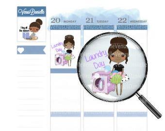 Laundry Day Stickers, Laundry Day, Laundry Stickers, Cute Stickers, Laundry Stickers, Planner Sticker, Chore Sticker