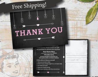 Plexus Thank you Postcard - Chalkboard - Free Shipping