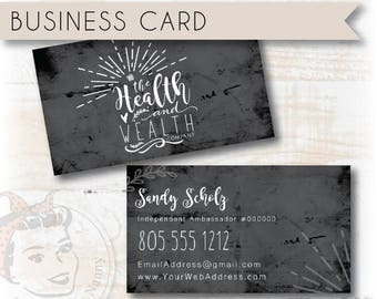 Plexus Business Card, Health and Wealth Company