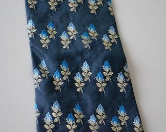 Vintage tie PALAIS DE DODGES Paris / flowers tie / pure silk made in Italy