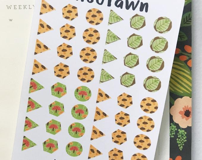 Fall Harvest Shape Stickers