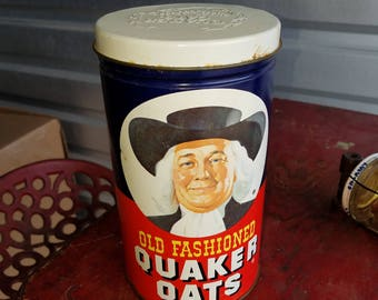 Vintage Limited Edition Quaker Oats tin