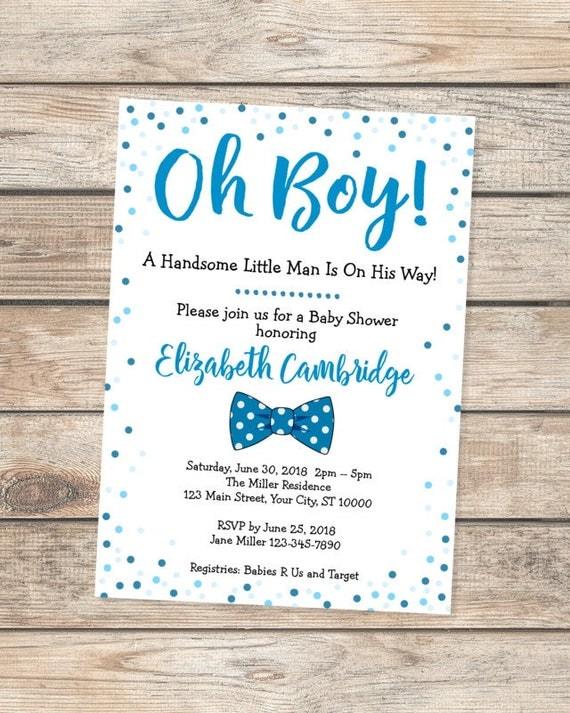 Oh boy baby shower invitation little man baby shower invitation il570xn filmwisefo