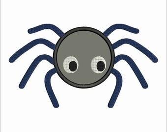 Spider Applique Embroidery Design Halloween Applique Instant Download