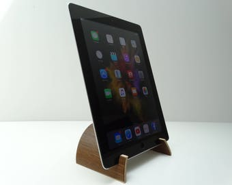 Recipe stand on tablet, recipe support on tabet, kitchen tablet stand, wooden recipe stand, ipad bracket
