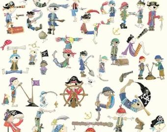 "alphabet Counted Cross Stitch pirates Pattern embroidery needlepoint needlecraft needlework - 23.64"" x 32.36"" - L1016"