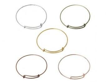 5 colors 5 adjustable Bangle bracelets