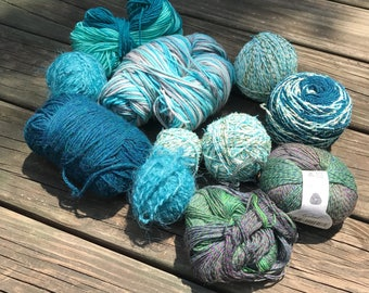 Green & Blue Yarn Bundle