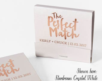THE PERFECT MATCH Matchbooks - Wedding Favors, Wedding Matches, Personalized Matches, Custom Matchbooks, Engagement Party Favors, Rose Gold